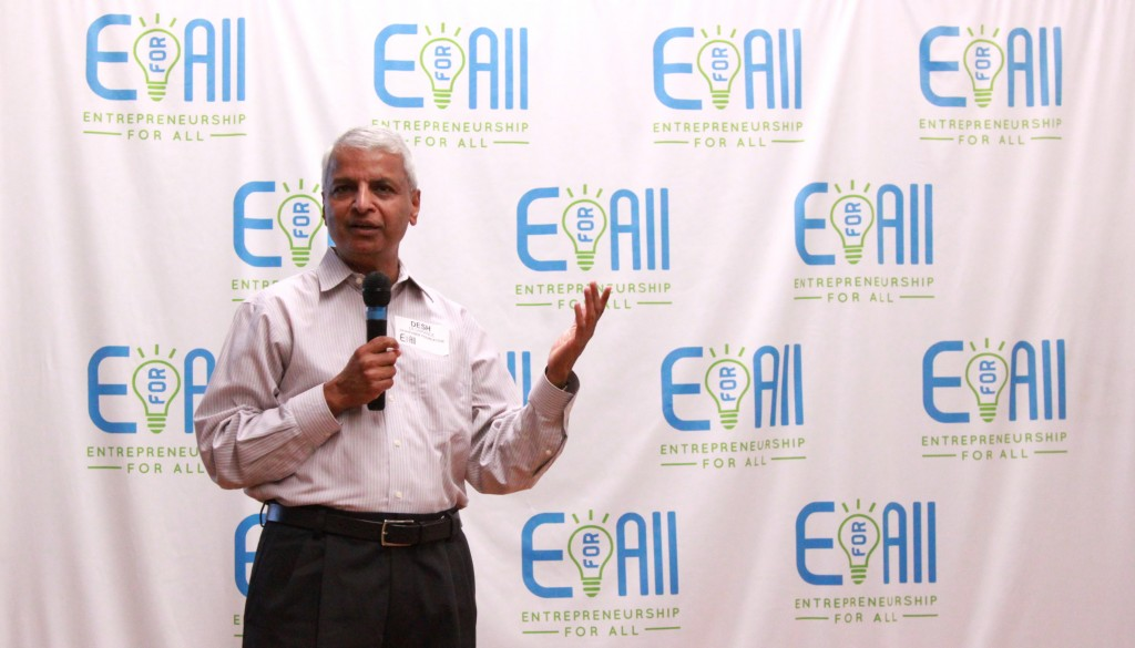 Desh Deshpande, Founder of the Deshpande Foundation, talks about Entrepreneurship for All (EforAll)